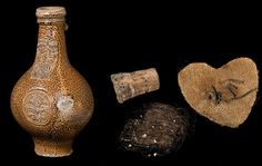 """theenglishladye: """" 'Witch bottle' and contents, England This or Bellarmine or Bartmann jug (so-called after the bearded-face that often featured on such Germanic stoneware vessels) was found in the bed of Westminster Abbey's. Witch Bottles, Glass Bottles, Traditional Witchcraft, Chocolate Roses, Into The Fire, Antique Bottles, Aboriginal Art, Ceramic Clay, Bottle Crafts"""