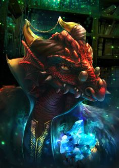 Tiberius Stormwind, Dragonborn Sorcerer from Draconia and a member of Vox Machina.. Art by Ameera Sheikh