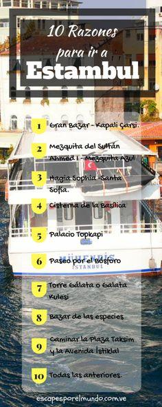 Viajes Estambul. 10 razones para conocerlo #travel