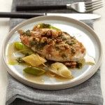 Chicken Breasts with Walnuts, Leeks and Candied Lemon - The Good News Angela Hartnett flavors lean chicken breasts with leeks and preserved lemons, which deliver vitamin C and minerals like magnesium and iron.