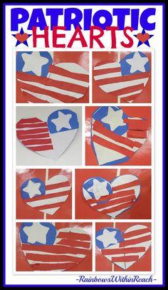 Patriotic Hearts via RainbowsWithinReach {Honoring Sept. 11th through Patriotic Response} #edchat