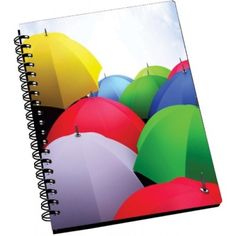 AMY Multi Color Umbrella A5 Notebook Spiral Bound (Multicolor)