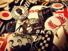 Brings back memories Acid House, Teddy Boys, Rude Boy, Northern Soul, Skinhead, Band Logos, Boy London, Mod Fashion, Pin Badges