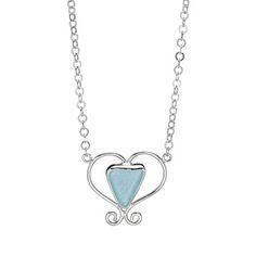 Look what I found at UncommonGoods: Sea Glass Scroll Heart Necklace for $89.00
