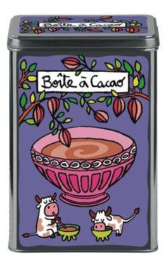 keladeco.com - #boite a #cacao, idée deco cuisine, boite valérie nylin, boite derriere la porte - DLP