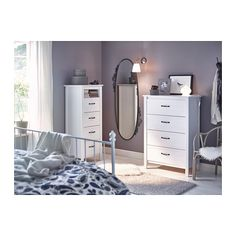 IKEA offers everything from living room furniture to mattresses and bedroom furniture so that you can design your life at home. Check out our furniture and home furnishings! Ikea Bedroom, Home Bedroom, Bedroom Furniture, Bedroom Decor, Mirror Furniture, Ikea Brusali, White Chests, Country Interior, Stylish Bedroom