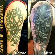 black tattoo cover up tattoo cover ups and re works pinterest