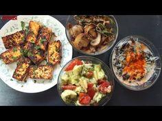 4 Easy Vegetarian Keto Snacks | Caprese - Sauteed Mushrooms - Creamed Spinach - Lemon Pepper Paneer - YouTube