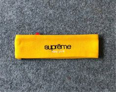 This Supreme Fleece Headband is available in 5 colors (Blue, Red, Black, Yellow and Camo). Supreme Accessories, Sunglasses Case, Street Wear, Yellow, Gold