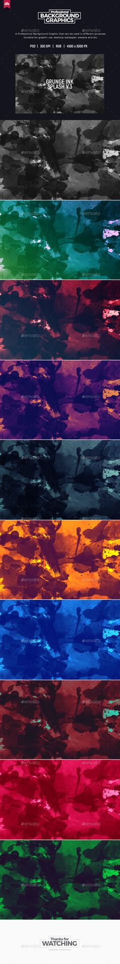 #Grunge Ink Splash - Background - Abstract #Backgrounds Download here: https://graphicriver.net/item/grunge-ink-splash-background/20112502?ref=alena994