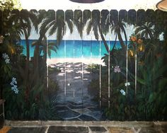 Painting Art Garden Fence Decor-20 Backyard Fence Decoration Makeover DIY Ideas