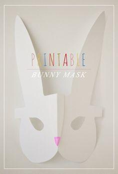 Printable Modern Bunny Mask {Easter Printable}