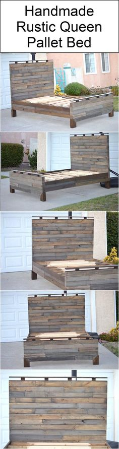 handmade-rustic-queen-pallet-bed