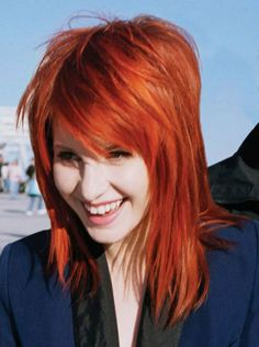 Photo of Orange-Brown Hair for fans of Hayley William's Hair 20600447 Paramore Hayley Williams, Hayley Williams Haircut, Hayley Paramore, Hairstyles With Bangs, Pretty Hairstyles, Shag Hairstyles, Orange Brown Hair, Medium Length Hair With Bangs, Dying Your Hair