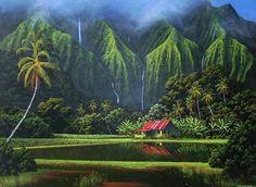 Water Falls Aloha Spirit, Hawaiian Art, Big Island, Beautiful Islands, Serenity, Most Beautiful, Waterfall, Surfing, Tropical