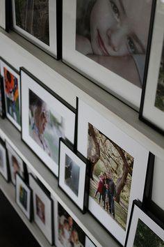 Simple photo ledges and instructions from Brown Eyed Fox. Photo Ledge, Picture Ledge, Wall Ledge, Picture Arrangements, Suggestion Box, Picture Shelves, Hobbies To Try, Wall Of Fame, Simple Photo