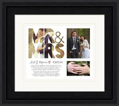 Wedding vow art personalized with your photos and text.