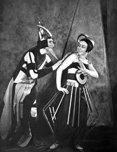 Movie still from 'Aelita: Queen of Mars', 1924. Costume designs by Aleksandra Ekster.