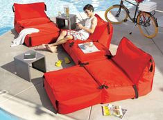 Bean Bags Go Modular With Tie-1-On