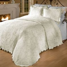 Add a touch of elegance to the master suite or guest room with this lovely comforter set, featuring a stylish pin-tucked design and white hue. Let it shine solo for a resort-worthy look, or toss a few patterned pillows and a fur throw on to instantly liven up your space.