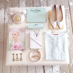 Mint & gold #accessories #mint #spring