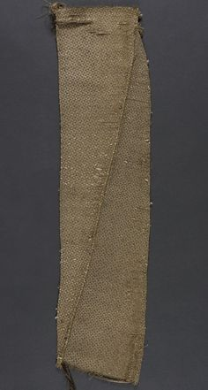Textile Fragment Italy, 1575-1600 Textiles; fragments Metal brocade Length: 24 in. (60.96 cm); width: 6 in. (15.24 cm) Museum Patrons Association (M.44.3.63)