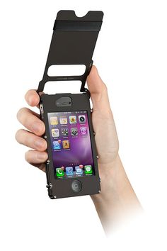 "Enterprise to Kirk: Here's an iPhone case with a flip-off lid just like the ""Star Trek"" communicator. OR MAYBE this for daddy"