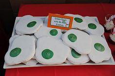 Green eggs no ham cookies