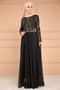 ** YENİ ÜRÜN ** Aksesuar Düğmeli Şifon Abiye Siyah Ürün Kodu: DMN7960 --> 154.90 TL Hijab Evening Dress, Hijab Dress, Evening Dresses, Muslim Fashion, Hijab Fashion, Fashion Dresses, Elegant Dresses, Formal Dresses, Kebaya Dress