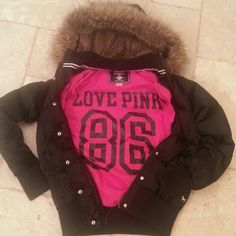 RARE GORGEOUS VICTORIA'S SECRET PINK DOWN FUR COAT GORGEOUS RARE VICTORIA'S SECRET PINK DOWN  COAT, WITH FAUX FUR TRIM, IN EXCELLENT GENTLY CONDITION. Shows minor normal wear on wrist cuffs and bottom band. Coat reads 90% down, two exterior zippered pockets, removable SOFT FUZZY fur lined hood, snaps/ zips up the front. Cuddly warm and sexy on.The interior is hour pink with lettering. I've never seen another second hand. Grab this one before I change my mind!  SoOoOooOo cute! ALL of my items…