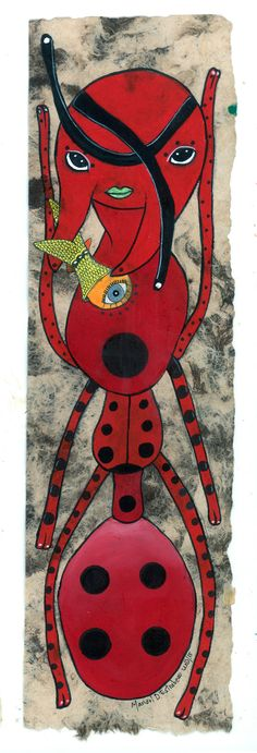 """Hormiga disfrazada de catarina"" Spiderman, Superhero, Fictional Characters, Art, Animales, Craft Art, Spider Man, Kunst"