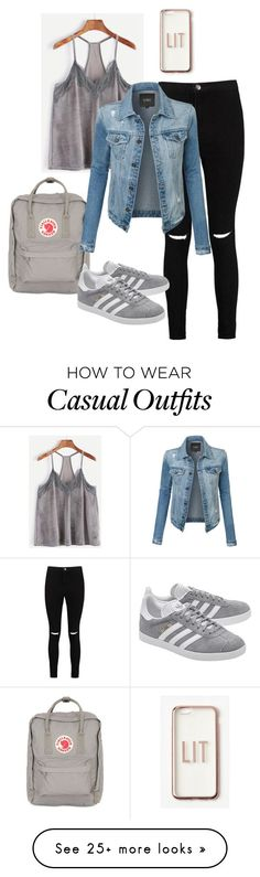 """Stoer, Casual"" by evamarcus1 on Polyvore featuring Boohoo, Missguided, Fjällräven, adidas Originals and LE3NO"