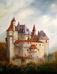 Chateau Medieval, Medieval Castle, Medieval Fantasy, Beautiful Architecture, Beautiful Buildings, Interesting Buildings, Castle House, Castle Ruins, Monuments
