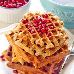 Clean Eating Gluten Free Applesauce Waffles