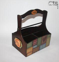 Aufbewahrungs Körbchen  Strick box  Stricknadeln  von UltroViolet
