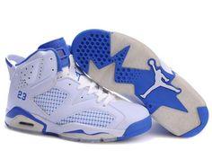 676bb0176a79 Cheap Nike Air Jordan Retro 6 Shoes In White Blue All Jordan Shoes