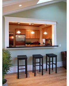 open concept kitchen for the home kitchen pass half wall rh pinterest com