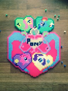 My little pony heart. Beads.