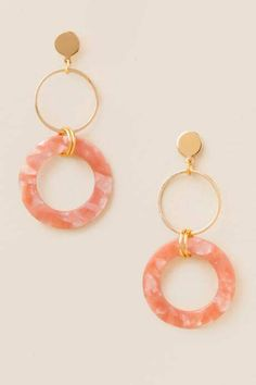 Color de Oro Rosa Durazno Tear gota diseño pendientes Ladies Fashion Jewellery