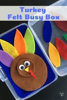 Make your own Felt Busy Boxes in a variety of themes and so fun to play with during quiet time, waiting times or in the car! Thanksgiving Crafts For Kids, Thanksgiving Activities, Holiday Activities, Thanksgiving Prayer, Thanksgiving Appetizers, Thanksgiving Outfit, Thanksgiving Decorations, Thanksgiving Recipes, Craft Projects For Kids
