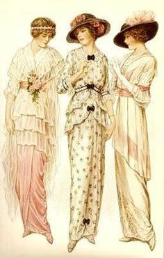 images vintage - Page 2 Edwardian Era, Edwardian Fashion, Vintage Fashion, Victorian Ladies, 1914 Fashion, Fashion Art, Edwardian Costumes, French Fashion, 80s Fashion