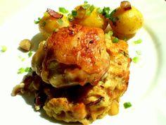 Pečené kuře s nádivkou trochu jinak | Vaření s Tomem Cauliflower, Meat, Chicken, Vegetables, Food, Cauliflowers, Veggies, Vegetable Recipes, Meals
