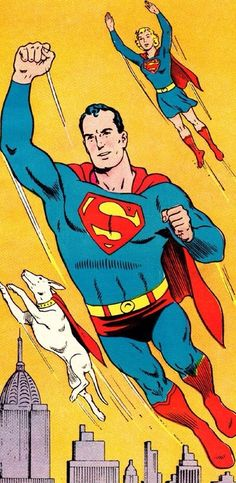 Superman, Supergirl and Krypto - art by Curt Swan (1962)