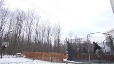 trampoline trick shot... this is just insane!!!