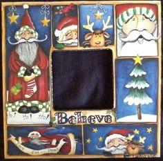 Moldura em madeira - Believe in Christmas Tintas Acrilicas