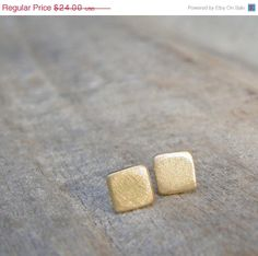 Holiday Sale  Gold Stud Earrings 5mm Small Gold by ravitschwartz, $21.60