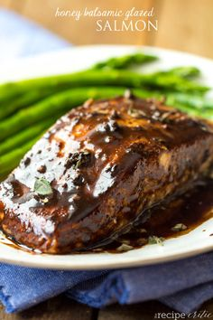 Honey Balsamic Glazed Salmon