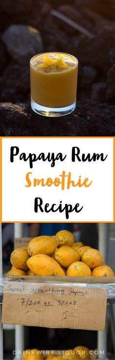 This Papaya #rum #smoothie #cocktail will instantly transport you to an #island paradise