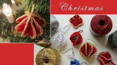 Crochet Christmas tree decorations of granny squares. Includes instructions to make a basic granny square.