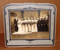 Vtg Black & White Art Deco Wedding Photograph 20's 30's Wedding Party Photo #1  | eBay